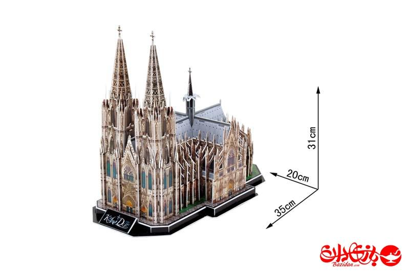 تصویر شماره 2  پازل سه بعدی فومی کلیسای جامع کلن آلمان 179 تکه