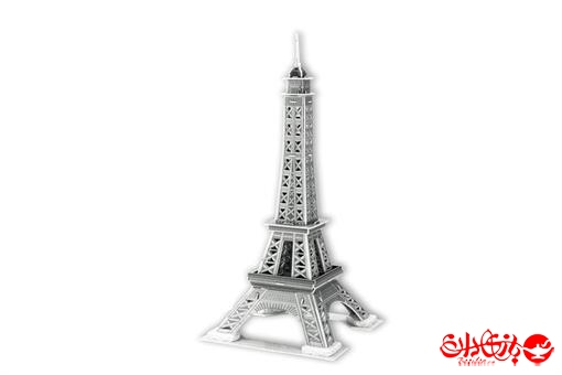 اسباب-بازی-پازل سه بعدی برج ایفل نقره ای 33 تکه