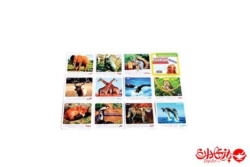 اسباب-بازی-کارت رنگی بین بین طرح حیوانات وحشی