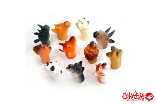 اسباب-بازی-عروسک حیوانات پلاستیکی سرانگشتی