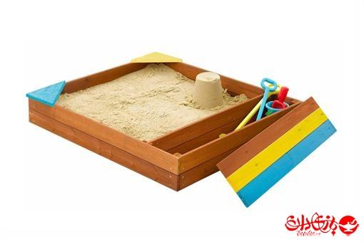 اسباب-بازی-استخر ماسه رنگین کمان ( چوب اشباع شده )