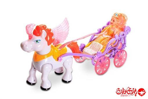 اسباب-بازی-عروسک درشکه سوار