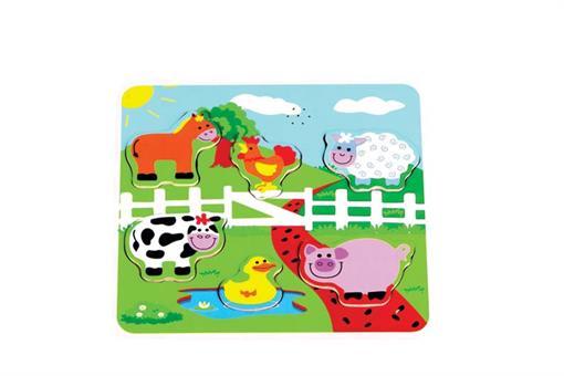 اسباب-بازی-پازل حیوانات موزیکال چوبی مارک ToyPlus