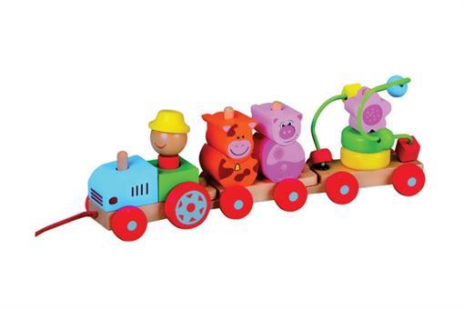 اسباب-بازی-ماشین حیوانات 3 تایی چوبی مارک ToyPlus