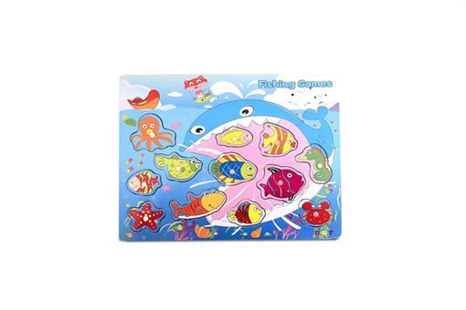 اسباب-بازی-پازل ماهی چوبی مارک Toy-Plus