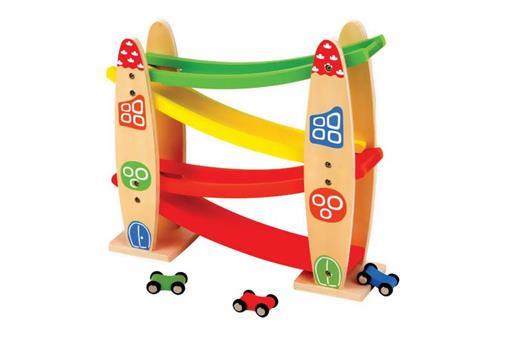 اسباب-بازی-بازی پارکینگ چوبی ماشین چهار طبقه مارک ToyPlus