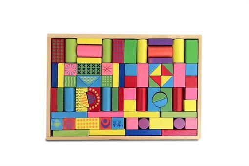 اسباب-بازی-جورچین اشکال هندسی رنگی چوبی مارک ToyPlus