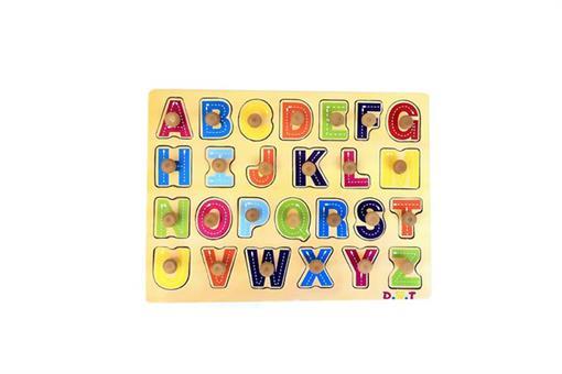 اسباب-بازی-پازل حروف لاتین چوبی مارک ToyPlus