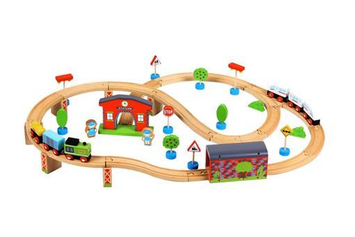 اسباب-بازی-ست قطار چوبی مارک ToyPlus