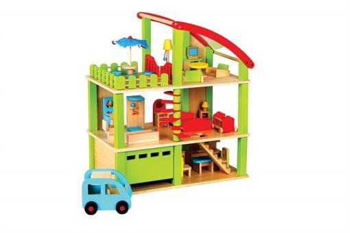 اسباب-بازی-ویلای رو باز چوبی مارک ToyPlus