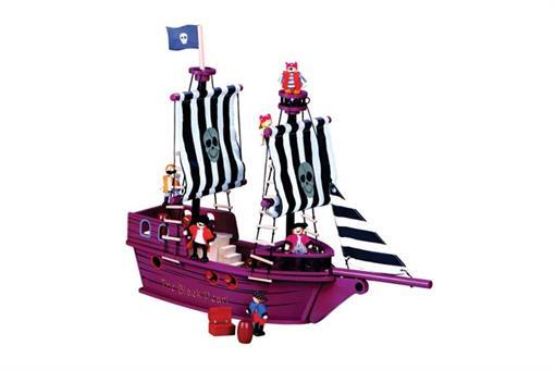 اسباب-بازی-کشتی دزدان دریایی چوبی مارک ToyPlus