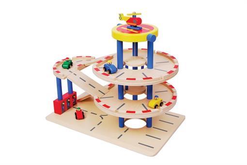 اسباب-بازی-پارکینگ طبقاتی چوبی مارک ToyPlus