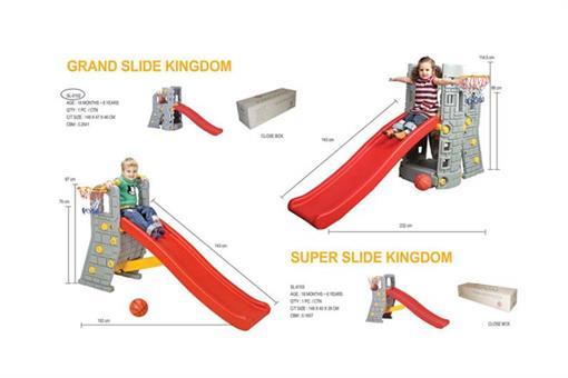اسباب-بازی-برج سرسره طوسی قرمز ساخت کره مارک Edu-play