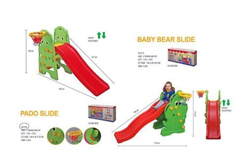 اسباب-بازی-سرسره سگ سبز قرمز ساخت کره مارک Edu-play