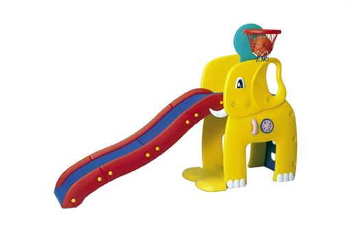 اسباب-بازی-سرسره بزرگ فیلی با تور بسکتبال ساخت کره مارک Haenim toy