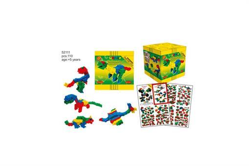 اسباب-بازی-ست دایناسور ١١٠ تایی سطح پیشرفته مارک Morphun