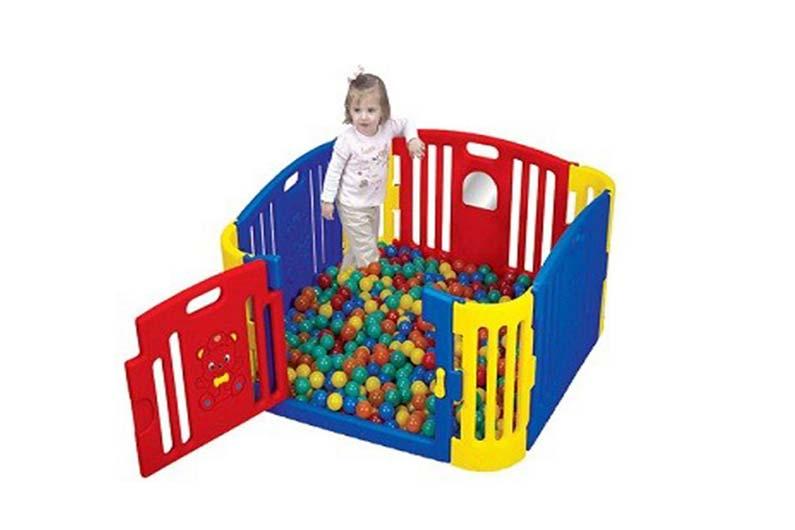 تصویر-شماره-1-پارک-حفاظ-کودک-قرمز-و-آبی-ساخت-کره-مارک-Edu-play