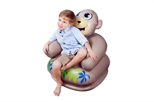 اسباب-بازی-صندلی بادی میمون طرح دار اینتکس