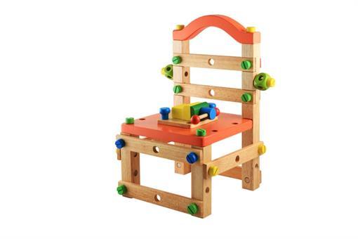 اسباب-بازی-صندلی چوبی مهره و ابزار مارک ToyPlus
