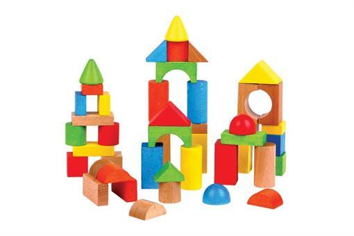 اسباب-بازی-بلوک های چوبی رنگی چیدنی مارک ToyPlus