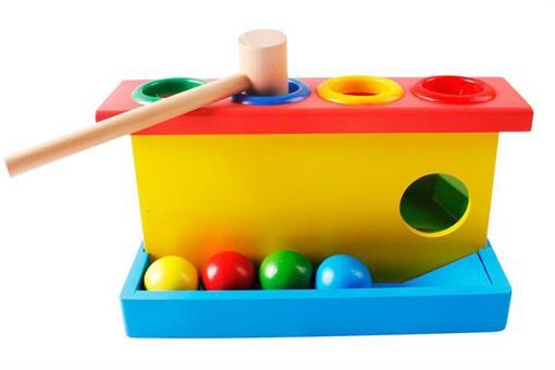 اسباب-بازی-لگو هوش پازلی با چکش چوبی مارک ToyPlus