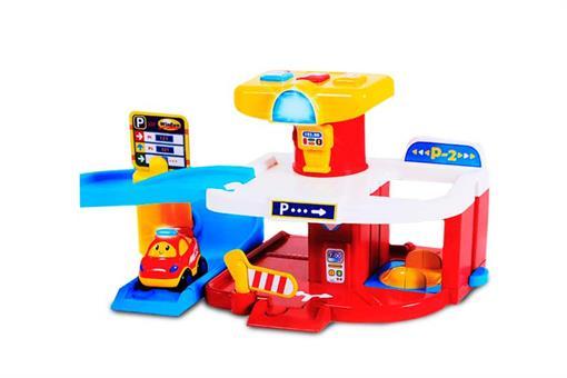 اسباب-بازی-ست دوکاره ریسینگ و پارکینگ دو طبقه ماشین مارک win fun
