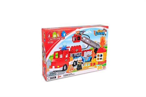 اسباب-بازی-لگو آتش نشانی 36 قطعه چراغ دار و صدادار