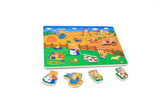 اسباب-بازی-پازل مزرعه حیوانات چوبی مارک Toy-Plus