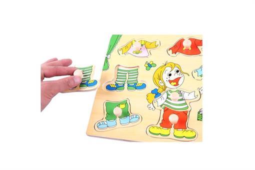 اسباب-بازی-پازل طرح دختر چوبی مارک ToyPlus