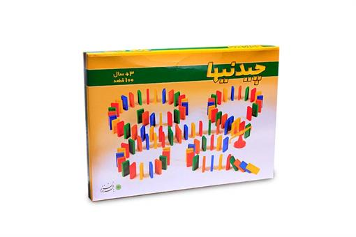 اسباب-بازی-چیدنیهای دومینو  100 قطعه