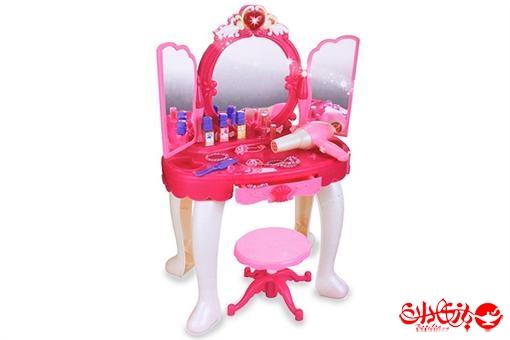 اسباب-بازی-میز آرایشی چراغدار و موزیکال