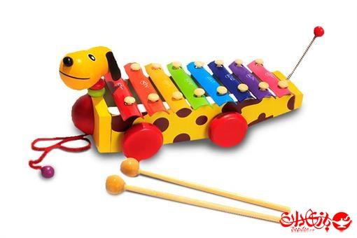 اسباب-بازی-بلز سگ چرخ دار کشیدنی