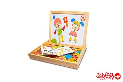 اسباب-بازی-تخته سیاه و وایت برد همراه با اشکال مگنتی