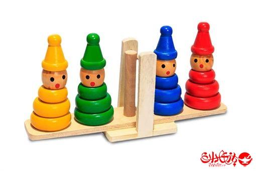 اسباب-بازی-ترازوی چوبی آدمکی