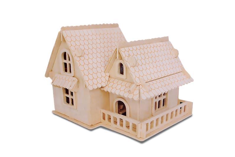 تصویر-شماره-1-جورچین-و-ماکت-چوبی-3-بعدی-ویلای-اروپائی-سبک-A-سه-لایه