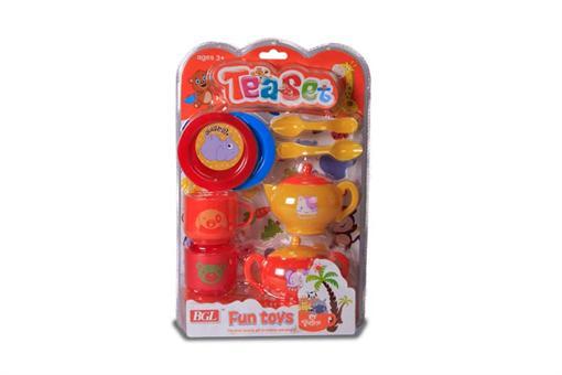 اسباب-بازی-ست چایخوری 8 تکه پلاستیکی