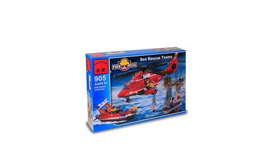 اسباب-بازی-لگو 404 تکه گروه آتش نشانی دریایی