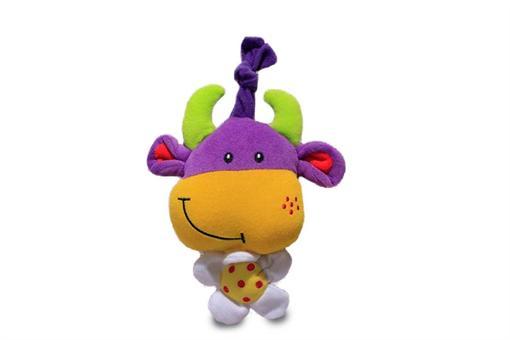 اسباب-بازی-عروسک پولیشی گاو شاخ دار کششی موزیکال مارک تولو
