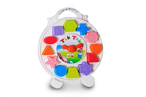 اسباب-بازی-ساعت تیک تاک پازلی آموزشی با بسته بندی مقوایی