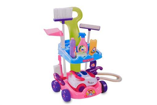 اسباب-بازی-ست  وسایل تمیز کننده به همره جارو برقی