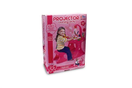 اسباب-بازی-میز تحریر دخترانه با وسایل با چراغ مطالعه