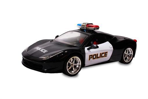 اسباب-بازی-ماشین پلیس فلزی رادیو کنترلی