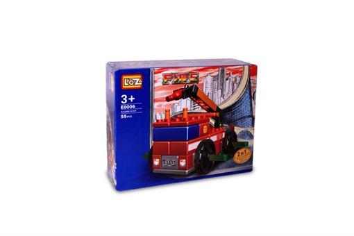 اسباب-بازی-بلوک ساختنی ماشین آتش نشانی ٥٧ قطعه