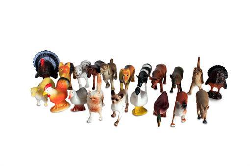 اسباب-بازی-ست حیوانات اهلی 20 تکه با سفره طرح طبیعت