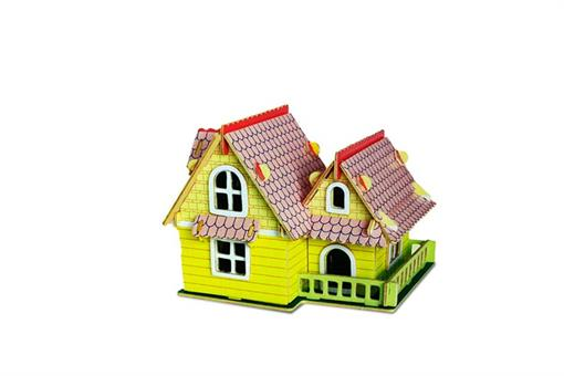 اسباب-بازی-خانه اروپایی مدلA سه لایه رنگی