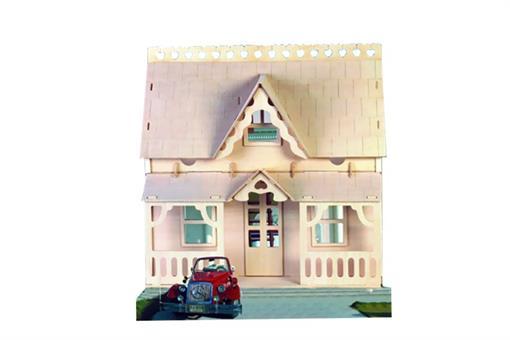 اسباب-بازی-خانه بالکن دار سفید  هشت لایه بزرگ