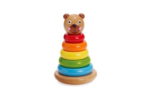 اسباب-بازی-برج هوش چوبی رنگی طرح خرس مارک MANHATTAN
