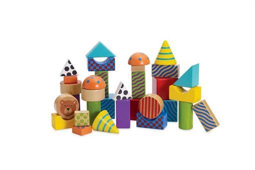 اسباب-بازی-بلوک های ساختنی چوبی مارک MANHATTAN