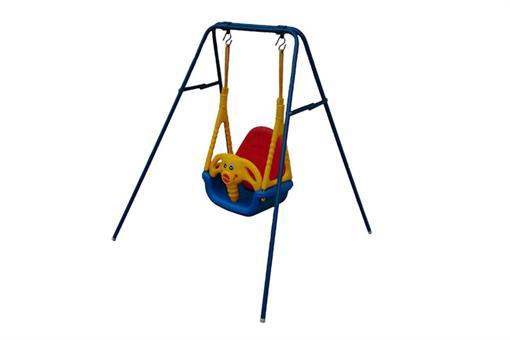 اسباب-بازی-تاب کودک مهتاب دارای پایه فلزی