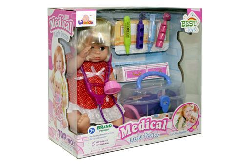 اسباب-بازی-عروسک با لوازم پزشکی